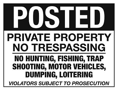 POSTED signs lot of 10 Private Property No Trespassing
