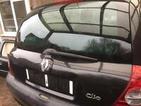Renault clio tailgate black 01-08 MK2