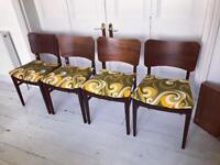 4 vintage 1960s E Gomme (G plan) dining chairs mid century retro