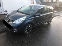 VERY LOW MILEAGE 2012 NISSAN NOTE ACENTA AUTO WITH MOBILITY SCOOTER AND WINCH