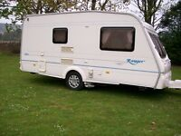 bailey ranger 2 berth 2004 new motor mover end washroom immaculate condition