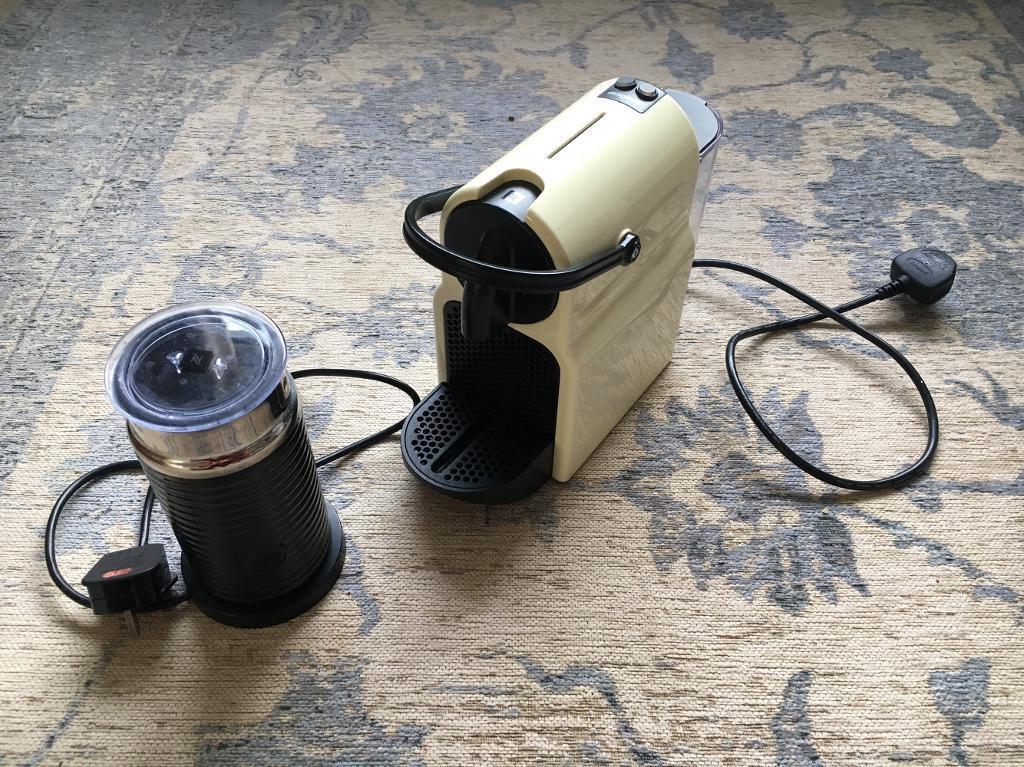 Nespresso Inissia Cream coffee machine and aeroccino 3 | in ...