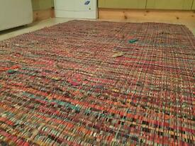 Large colourful rug