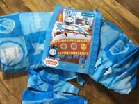 Thomas & Friend curtain set pair kids bedroom excellent condition