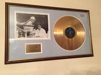 Genuine Cliff Richard Summer Holiday Gold Disc Signed