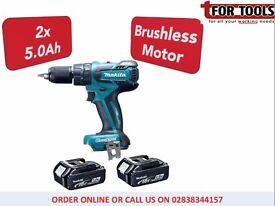 MAKITA Brushless DHP459 18v Cordless LXT Combi Drill 2x 5.0ah