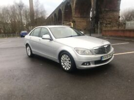 MERCEDES BENZ C200 CDI ELEGANCE AUTO DIESEL 2008 . ONE OWNER . 2 KEYS FULL LEATHER SEATS HPI CLEAR