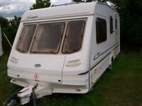 sterling cuillin 2002 4 berth end dressing/shower room new tyres reg serviced