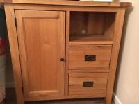 Oak sideboard / tv unit