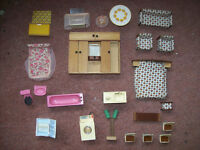 VARIOUS 60,S DOLLS HOUSE FURNITURE.COLLECT NEW MILTON AREA