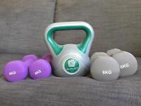 Hand weights - dumbbells & kettle bell