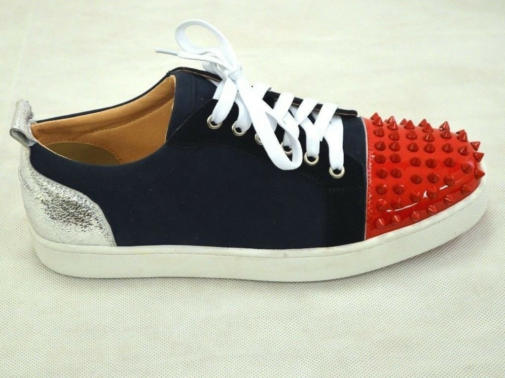 new concept 9aa2e f385f Mens Spikes High Top Flat Sneaker Red Bottom Christian Louboutin Louis  Trainers SIZE 9 - 10 EU 44 | in London Bridge, London | Gumtree
