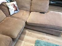Light brown corner sofa