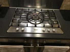 Stainless steel CDA 5 burner gas hob