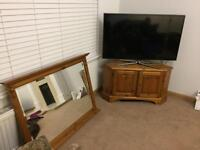 mirror and tv unit
