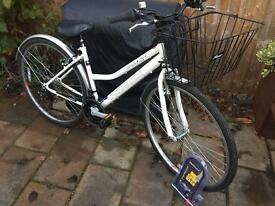 "Ladies 17"" Enterprise hybrid bike bicycle. Inc D lock, basket & lights. Delivery available"