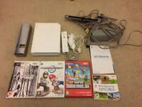 Nintendo Wii console with top games