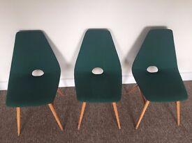 3 X Retro Erika Chairs 60s Style Original Vintage mid century