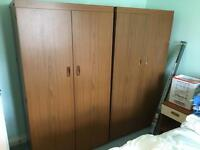 2x small wooden wardrobes