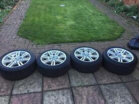 "BMW E90 17"" M Sport Alloys with Bridgestone runflat tyres"