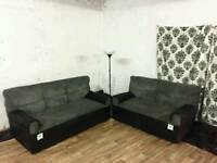 New/ex display black and grey 3+2 sofas*free delivery*