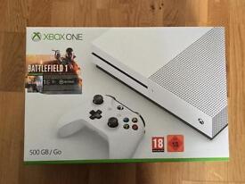 Xbox One S 500GB with BF1, GTA V, Mafia 3 and Overwatch