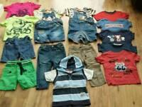 Boy summer big clothing bundle age 12-18 months