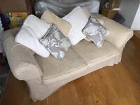 Two seater sofa with washable covers and cushion covers