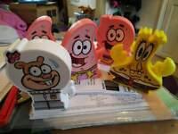 Spongebob plastic figures
