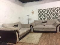 New jumbo cord 3+2 seater sofas**Free delivery**