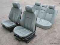 Rare Slate Green BMW E39 Saloon M Sport Leather Seats Manual 540i 535i 530i 530d 525i 525d 525tds for sale  Dungannon, County Tyrone