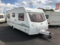 2004 LUNAR LEXON ES *FIXED BED* 4 BERTH SINGLE AXLE TOURING CARAVAN