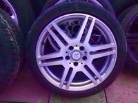 Mercedes Genuine Amg 18'' SINGLE Alloy FRONT 8.5J (1x wheel + Tyre) - CAN POST