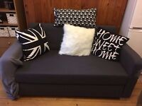 2 seater Ikea sofa bed - fabric needs repair. Collection Only
