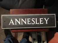 Annesley house sign