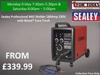 Sealey Professional MIG Welder 180Amp 230V with Binzel® Euro Torch