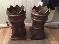 Chimney crowns/planters
