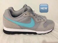 Nike trainers Grey size 3 M D runners 2 girls/ladies