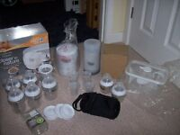 HUGE TOMMEE TIPPEE CLOSER TO NATURE NEW STERILISER,BLACK PERFECT PREP,BOTTLES,WARMER,FLASK + MORE