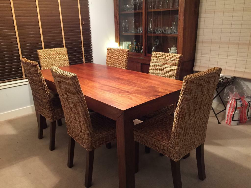 Next Dakota Mango Wood Dining Table And 6 Chairs