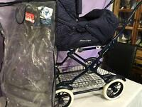 MamasI &Papas 3 in 1 pushchair with raincover.