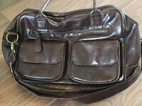 Koto Leatherette baby changing bag with changing mat and bottle warmer