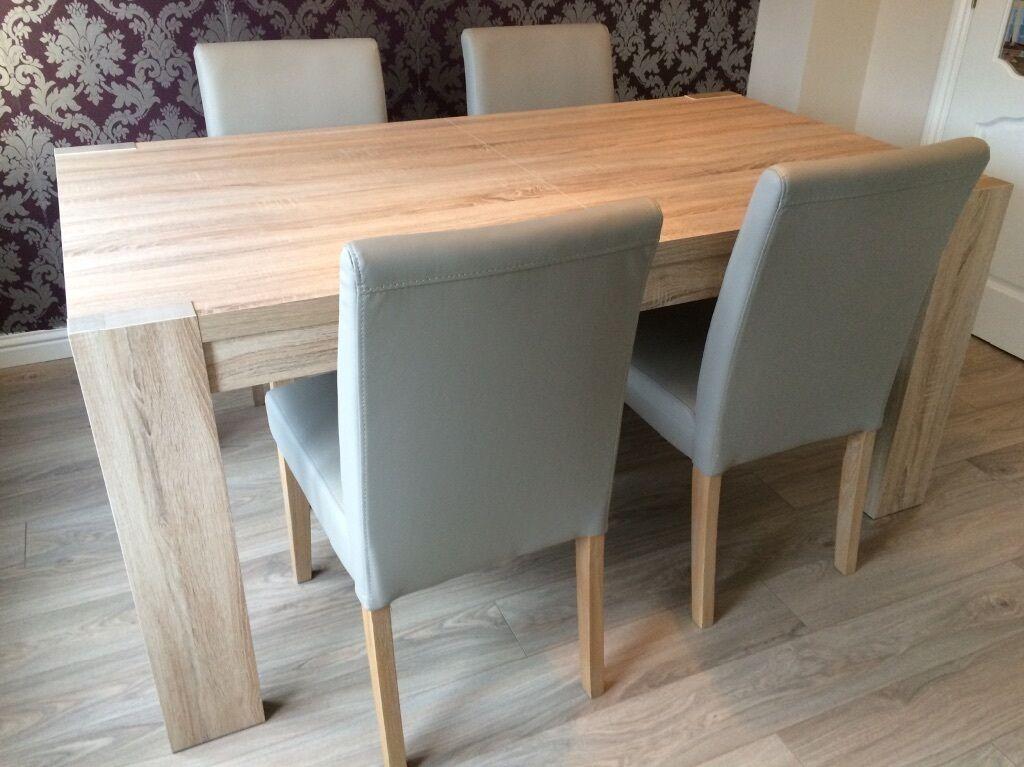 6 8 Seater Dining Table Next Corsica Light Oak Effect