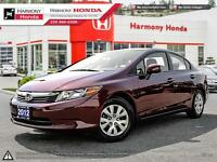 2012 Honda Civic LX - LOCALLY BOUGHT & SERVICED VEHICLE - ONE OW