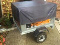 Erde classic tipping trailer + extension kit (excellent condition)