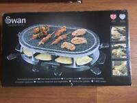 Swan oval stone raclette grill