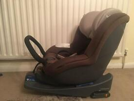 Joie i anchor car seat and base in chocolate brown