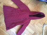 Girls Burgundy coat 3-4