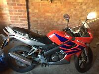 Honda CBR -r 125cc motorbike for sale (spares or repair project)