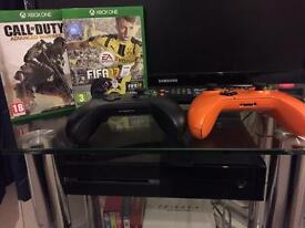 X Box One with two controllers, FIFA 17, Call of Duty plus games all perfect condition. £145